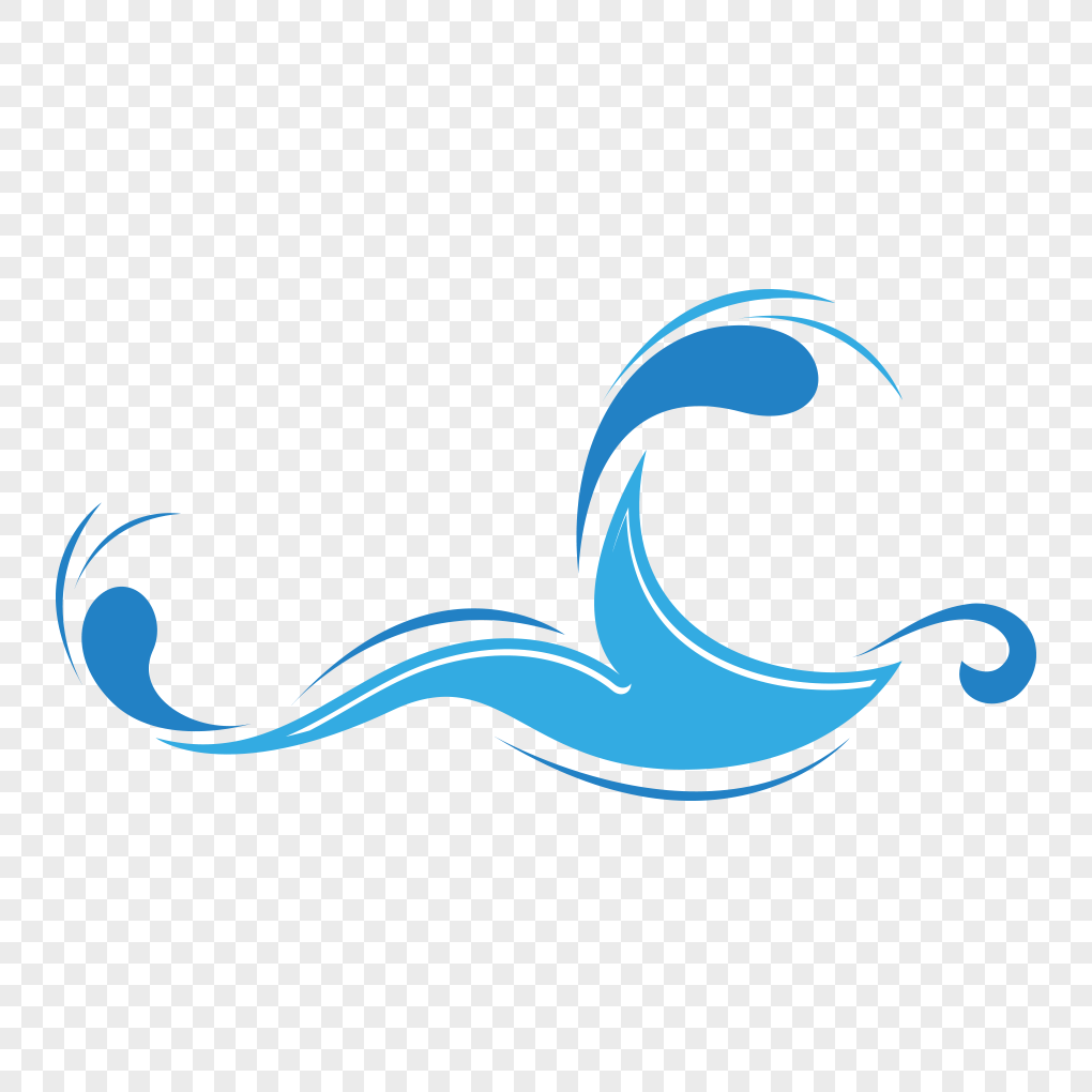 1020x1020 Lovely Cartoon Wave Vector Material Png Image Picture Free
