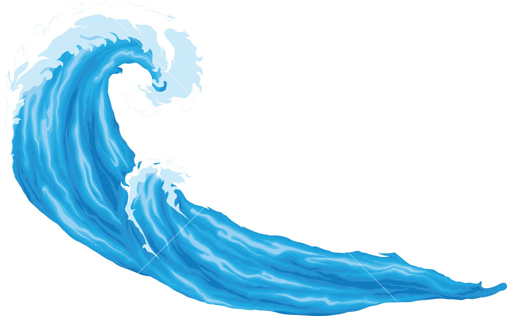 1000x624 Waves Vector Element Royalty Free Stock Image