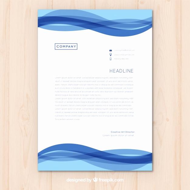 626x626 Wave Letterhead Template Free Download Best Of Letterhead Template