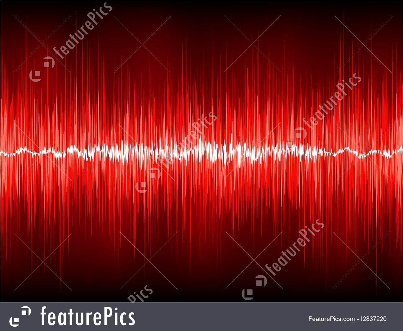 1300x1067 Red Waveform Vector Background. Eps 8