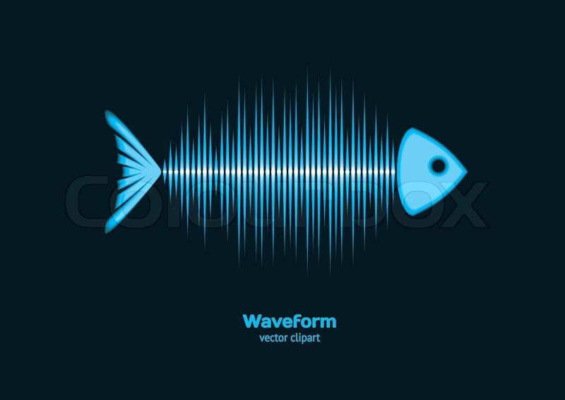 800x566 Sonar Waveform Fish Stock Vector Colourbox