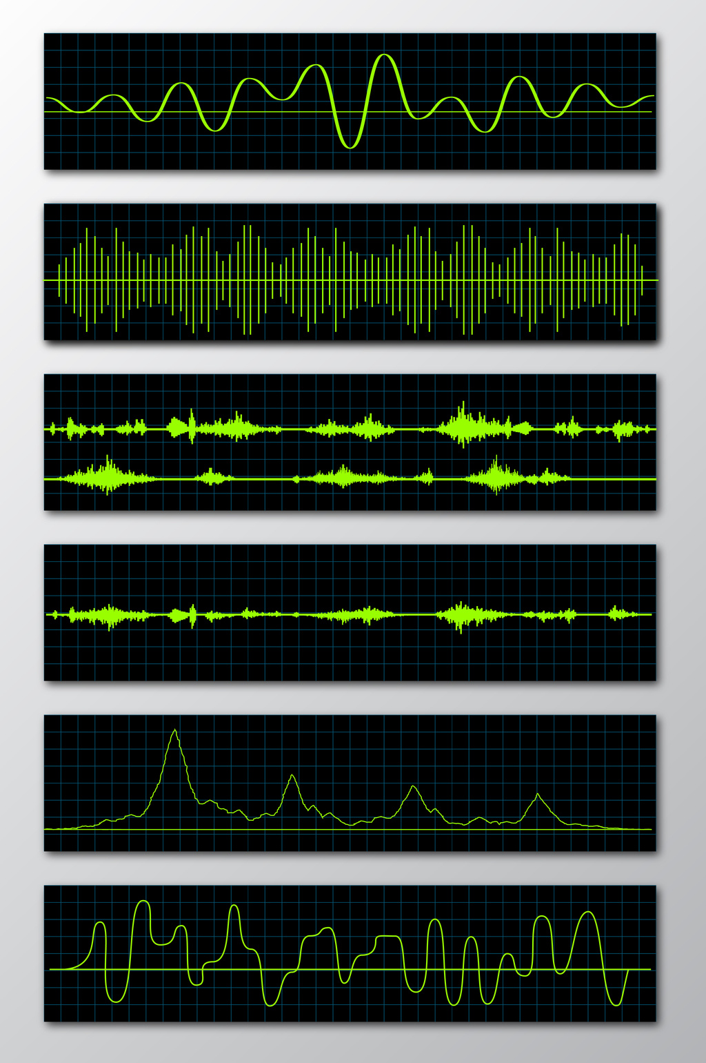 1024x1540 Various Electronic Waveform Vector Material Free Download Pikbest