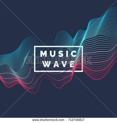 450x470 Vector Abstract Background With A Colored Dynamic Waves, Line And