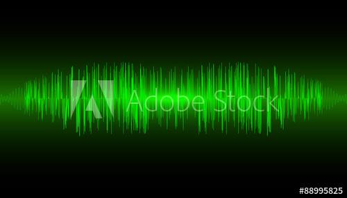 500x286 Abstract Music Equalizer Waveform. Vector Illustration