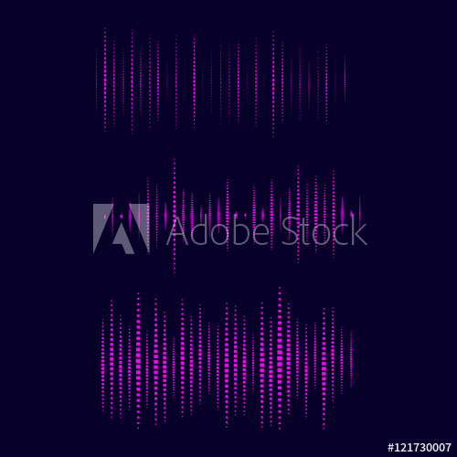 500x500 Collection Of Waveform. Vector Illustration For Club, Radio, Party