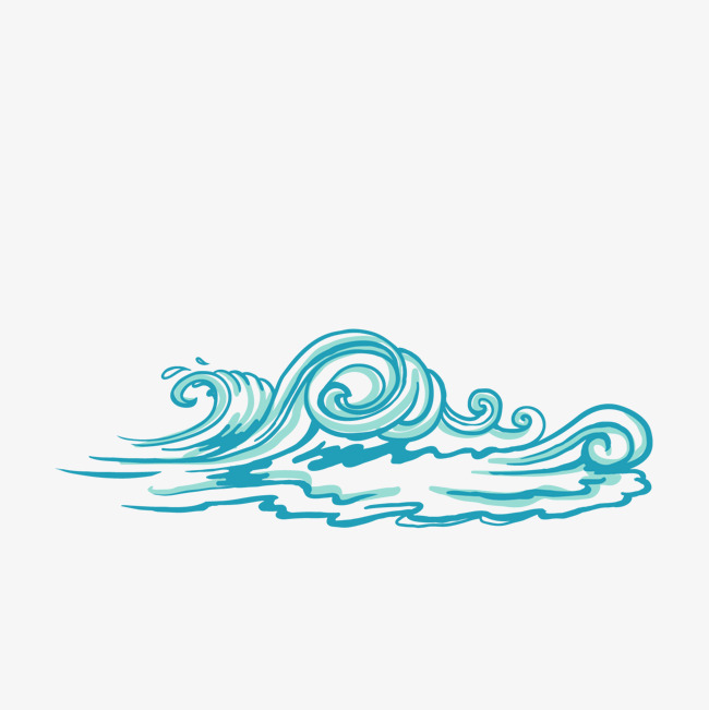 650x651 Hand Painted Blue Wave Vector Material, Hand Vector, Blue Vector