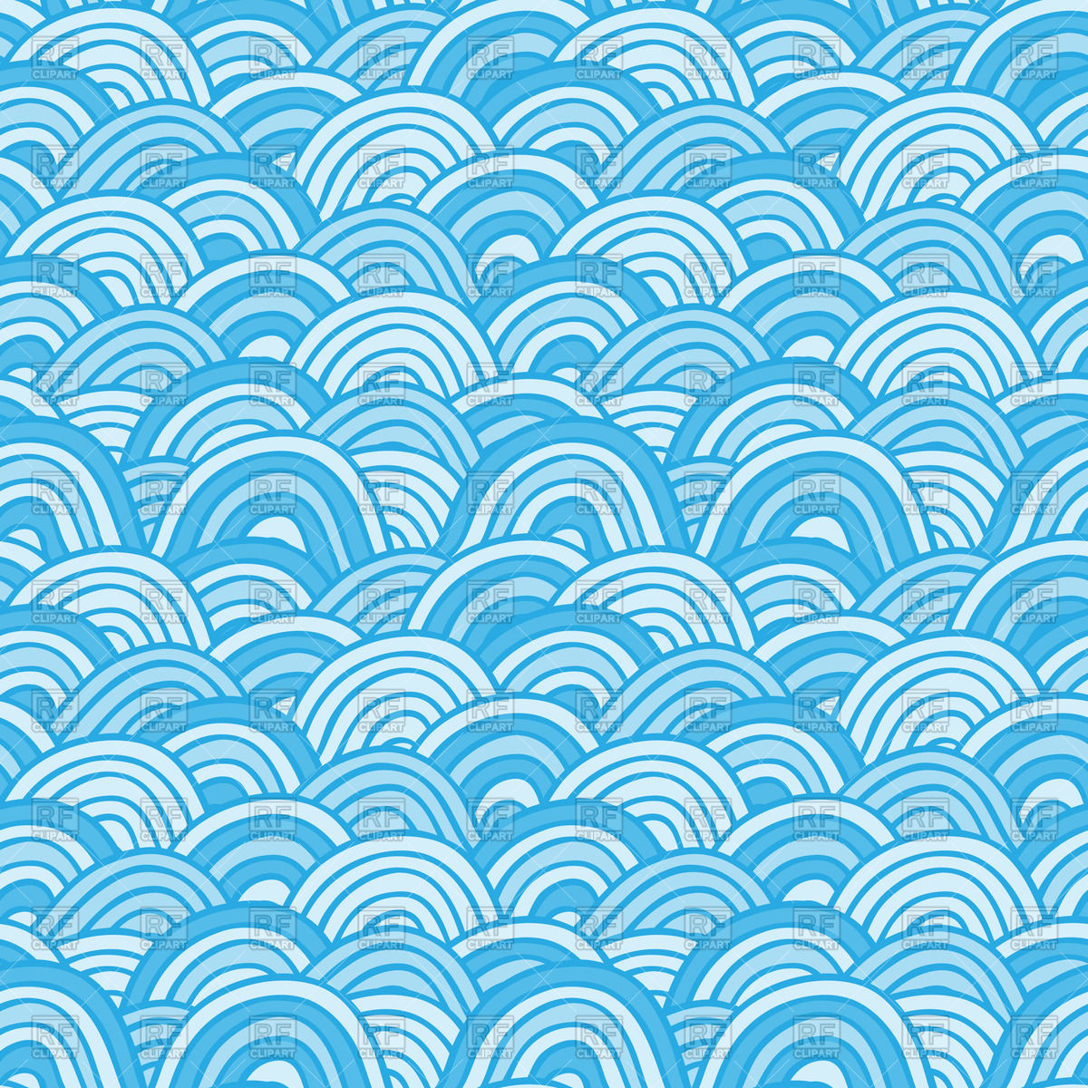 1200x1200 Sea Background With Abstract Waves Vector Image Vector Artwork