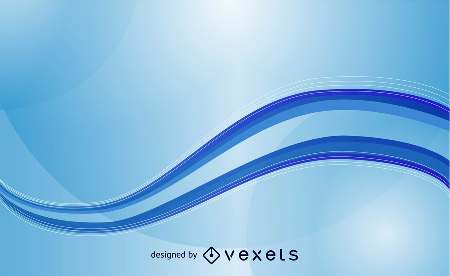 900x552 Abstract Blue Waves Vector Template Background