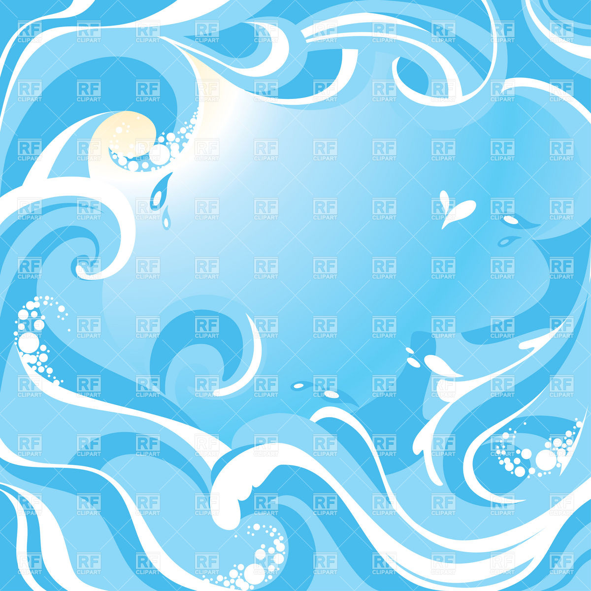 1200x1200 Abstract Water Background With Sea Waves Vector Image Vector