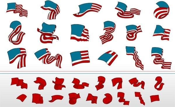 600x368 American Flag Waving Vector Free Vector Download (5,977 Free