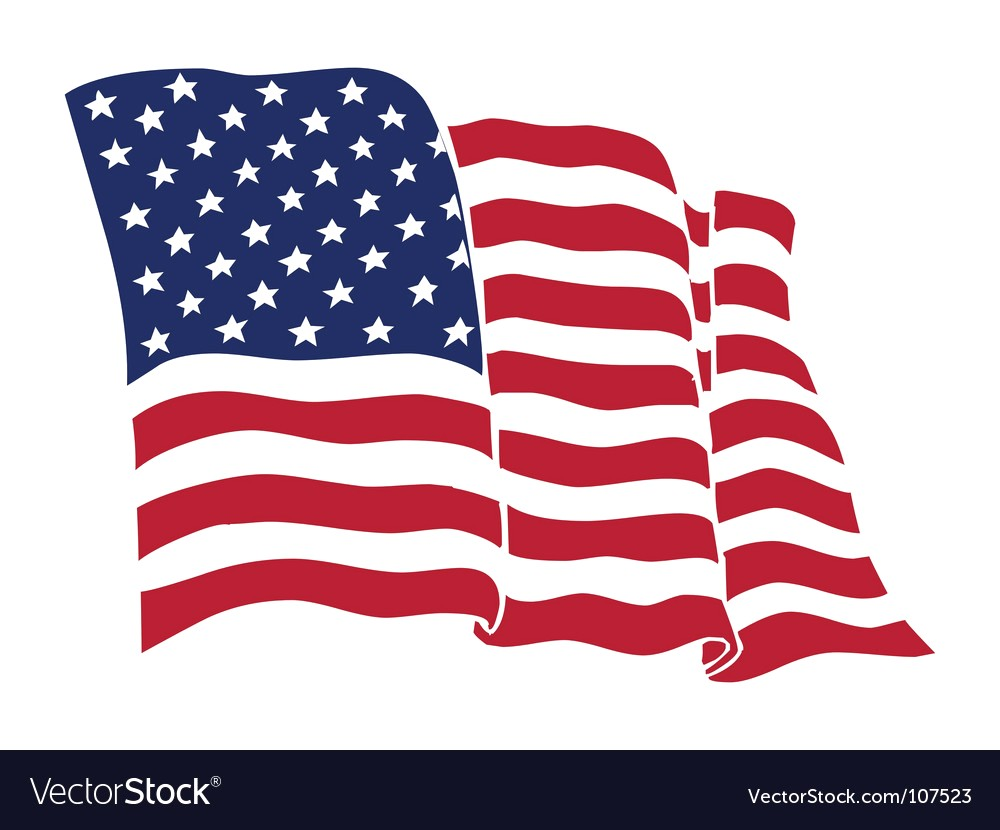 1000x830 Flat And Waving American Flag Vector 2899627 18 Us