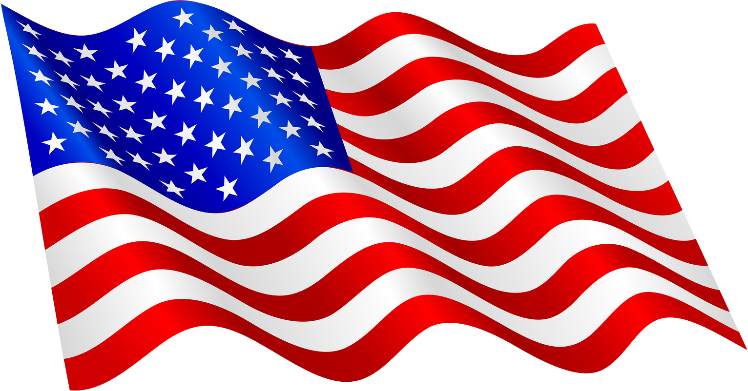 Waving American Flag Vector Free Download