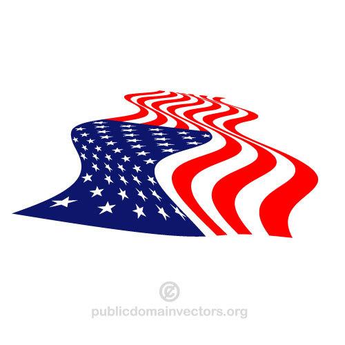 500x500 Warped American Flag Vector Public Domain Vectors