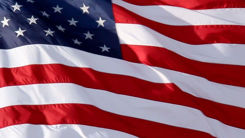 852x480 Waving American Flag Vector Free Download
