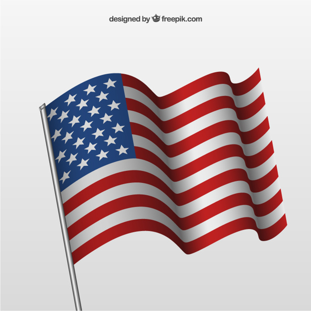 626x626 Waving American Flag Vector Free Download