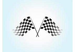Waving Checkered Flag Vector