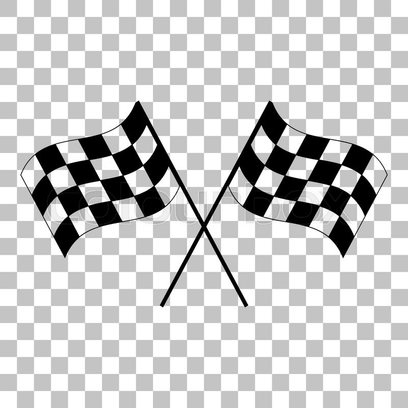 800x800 Crossed Checkered Flags Logo Waving In The Wind Conceptual Of
