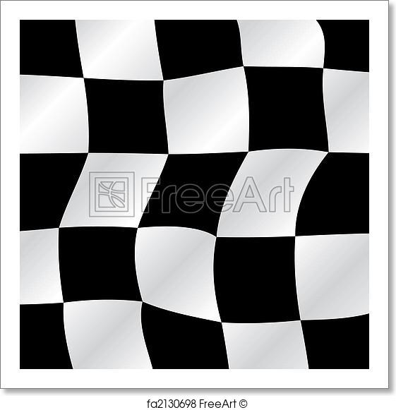 561x581 Free Art Print Of Checkered Flag. Checkered Flag Waving Background