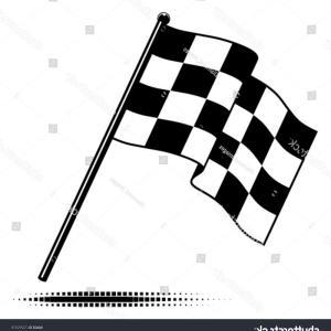 300x300 Vector Single Checkered Flag Waving Below Sohadacouri