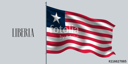 500x250 Liberia Waving Flag Vector Illustration Stock Image And Royalty