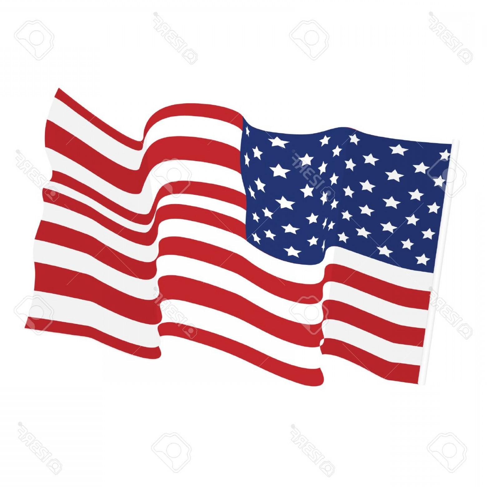 1560x1560 Photostock Vector American Waving Flag Vector Icon National Symbol