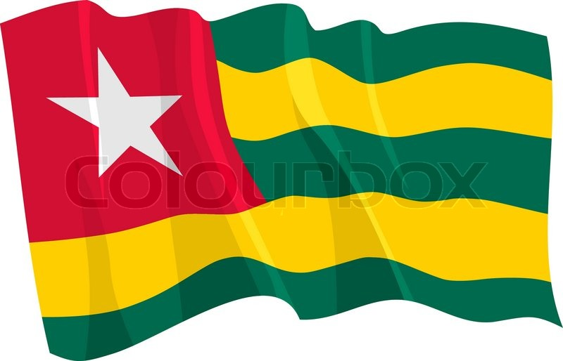 800x514 Political Waving Flag Of Togo Stock Vector Colourbox