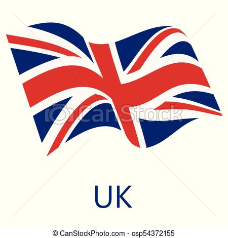 450x470 Uk Flag Vector. Vector Illustration Waving Flag Of United Kingdom