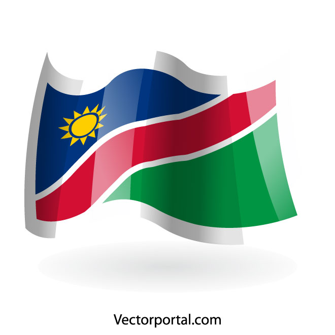 660x660 Waving Flag Of Namibia