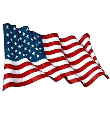 380x400 American Flag Clip Art Illustration Of A Waving Flag Against White