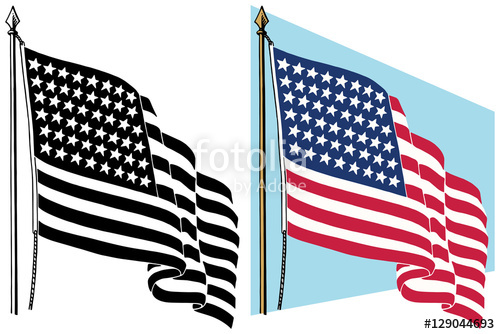 500x334 American Flag Waving In The Wind Stock Image And Royalty Free