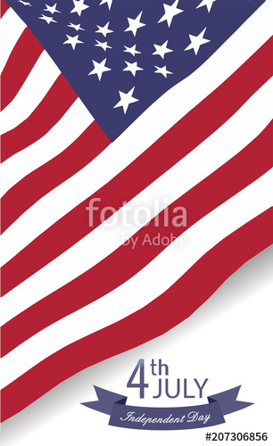 306x500 American Waving Flag Vector Illustration Stock Image And Royalty