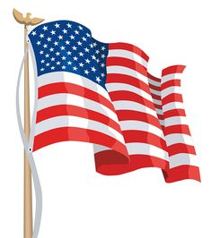 Waving Us Flag Vector