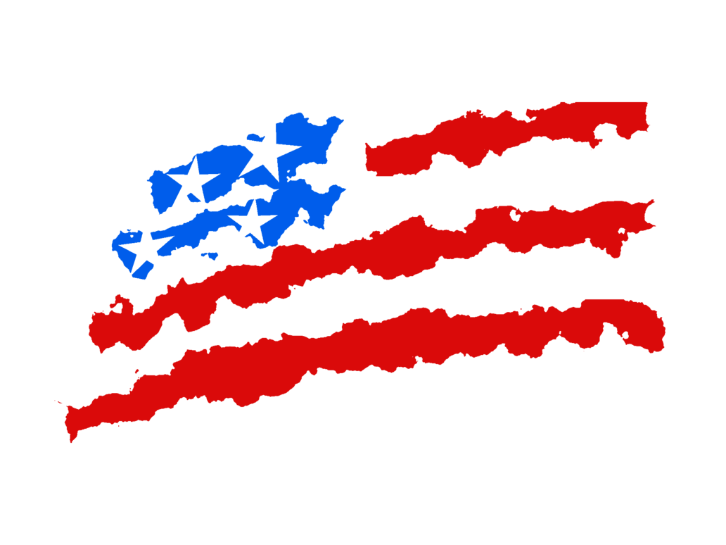 1032x774 Drawn American Flag Transparent Background