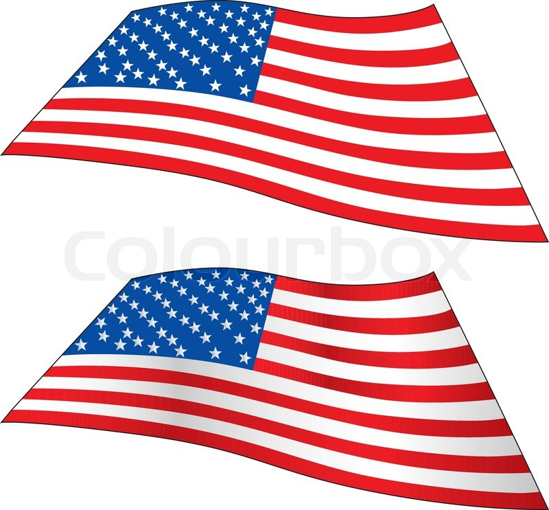 800x743 Accurate And Brushed Waving Usa Flag Stock Vector Colourbox