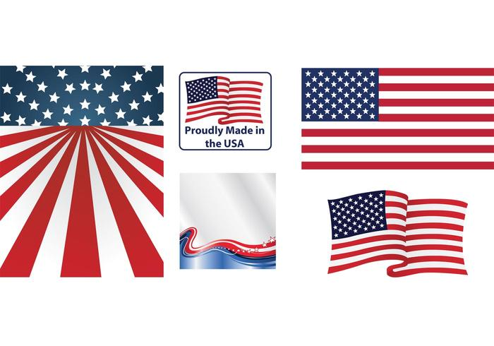 700x490 Us Flags Vectors Free Vector Art