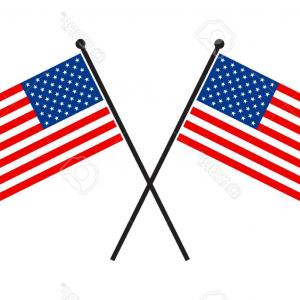 300x300 Waving American Flag On A Pole Shopatcloth