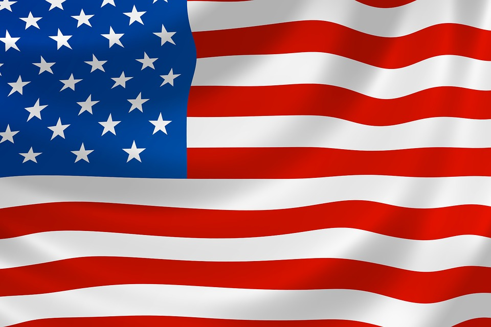 960x640 Waving American Flag Vector 4128620