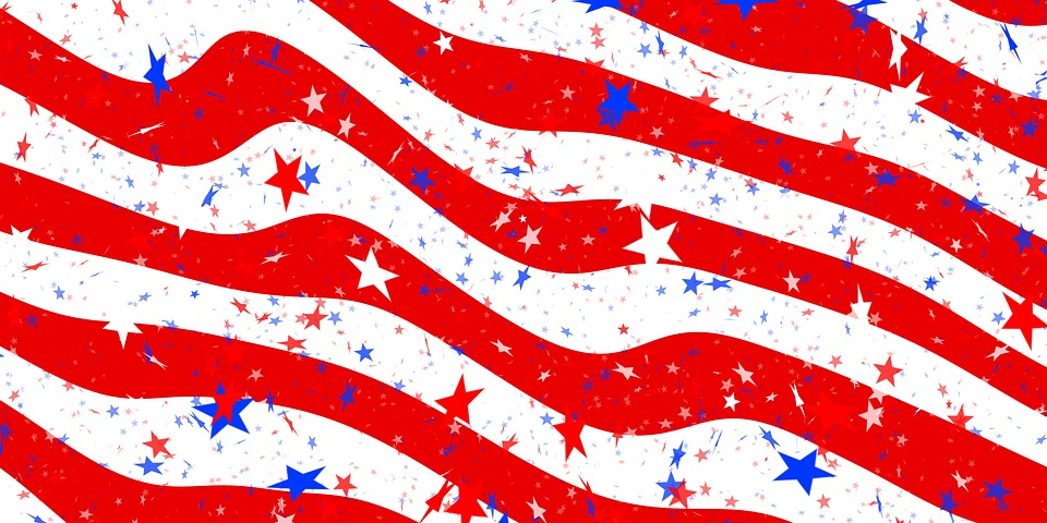 960x480 Waving American Flag Vector 4128636