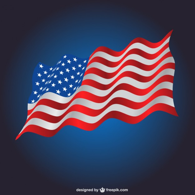 626x626 Waving Usa Flag Template Vector Free Download