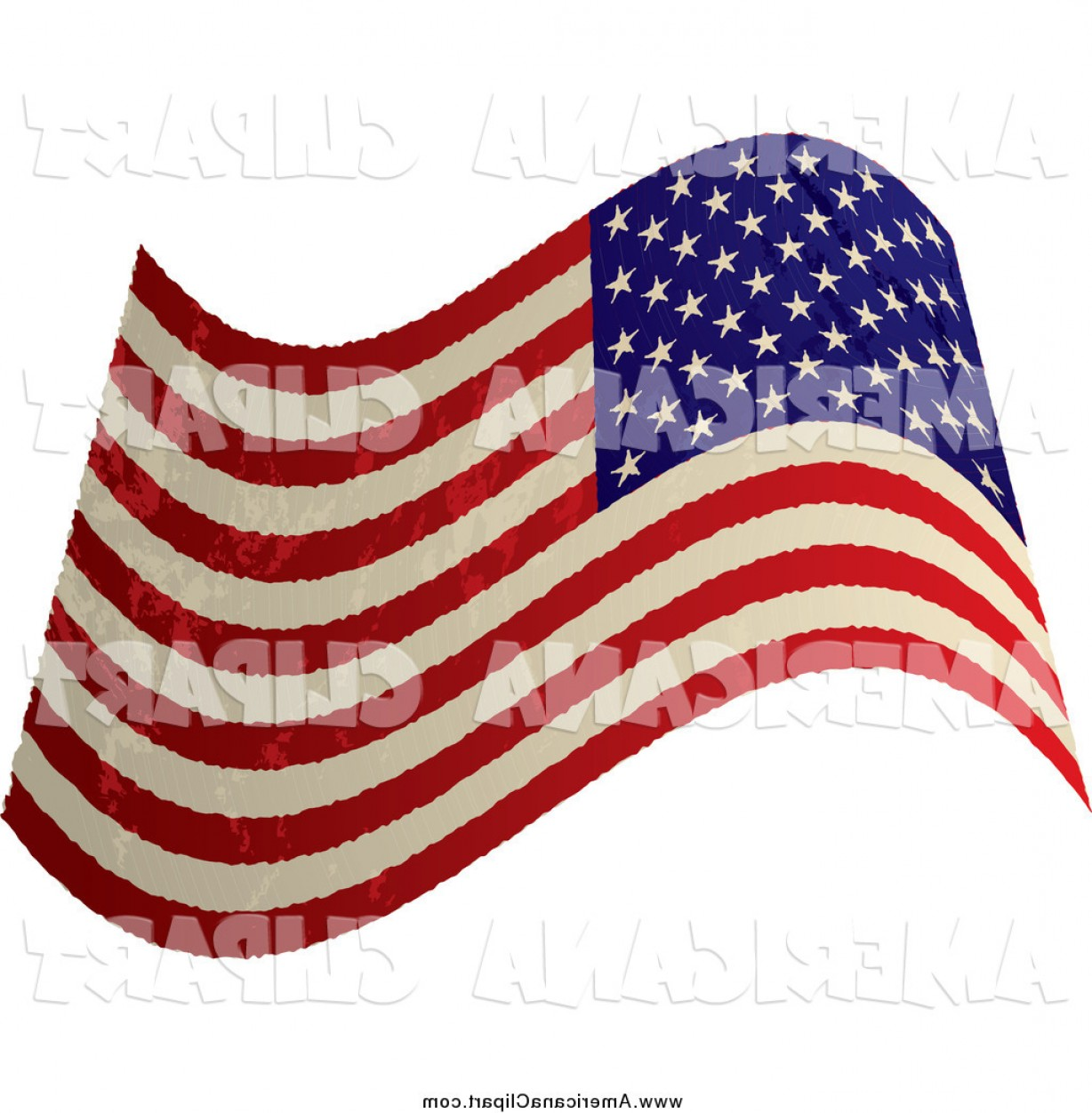 1228x1252 Americana Vector Clip Art Of A Distressed Waving Usa Flag By