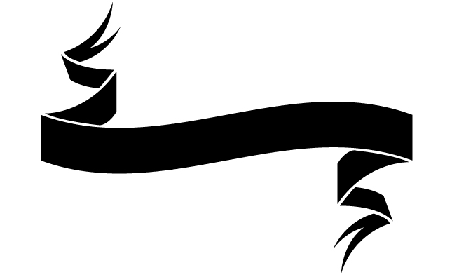 645x395 20 Ribbon Banner Vector Black Images