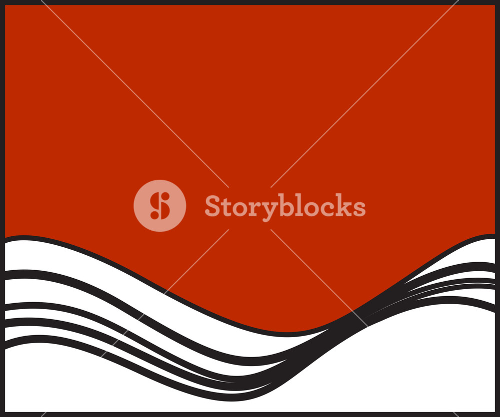 1000x835 Retro Wavy Vector Banner Royalty Free Stock Image