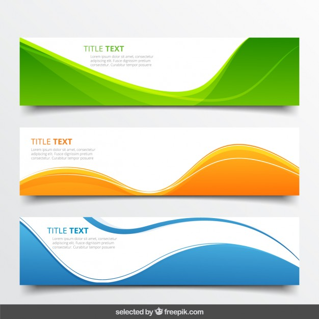 626x626 Abstract Wavy Banners Vector Free Download