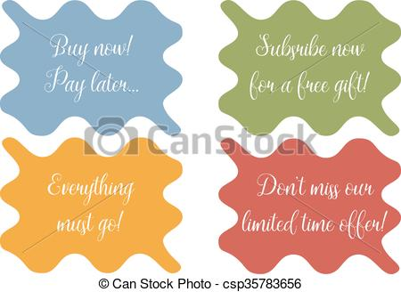 450x328 Set Of 4 Wavy Banner, Stickers, Minibackground With Sale Texts