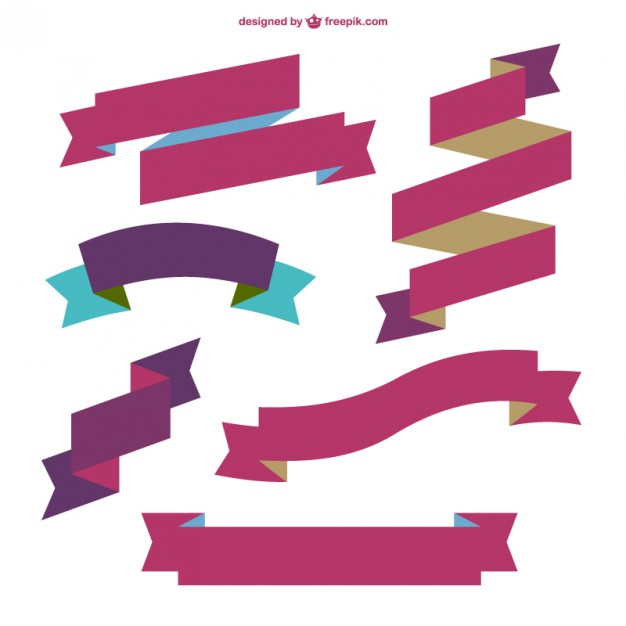 626x626 Burgundy Ribbons Vector Free Download