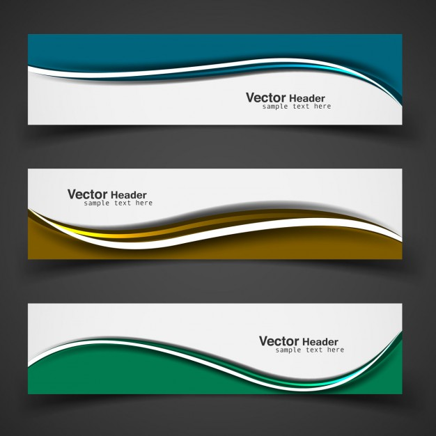 626x626 Colorful Wavy Banner Set Vector Free Download