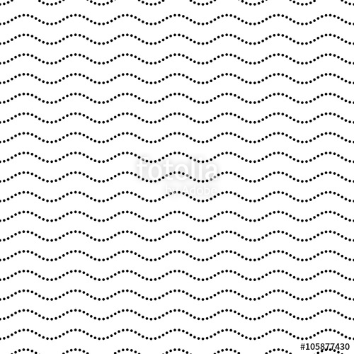 500x500 Seamless Dotted Wavy Line Pattern Stock Image And Royalty Free