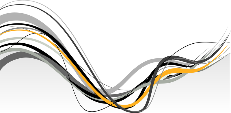 800x391 Abstract Banner With Wavy Lines