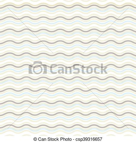 450x470 Brown Wavy Line Vector Illustration. Geometric Pattern. Seamless