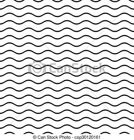 450x470 Seamless Wavy Line Pattern . Black Vector Simple Seamless Wavy